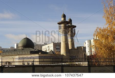 The Mosque With A Minaret Of The Embassy Of The Islamic Republic Of Iran In Moscow