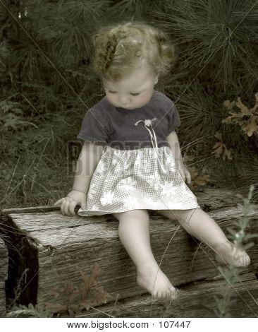 Little Girl In Wods