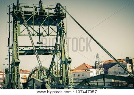 Bridge Over Sado River Detail. Alcacer Do Sal, Portugal
