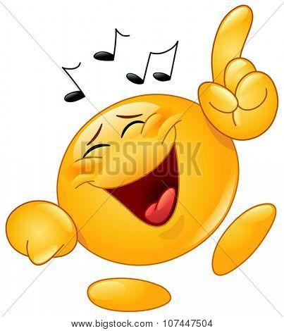 Yellow ball dancing to music