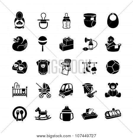 Collection of Baby icons vector icons