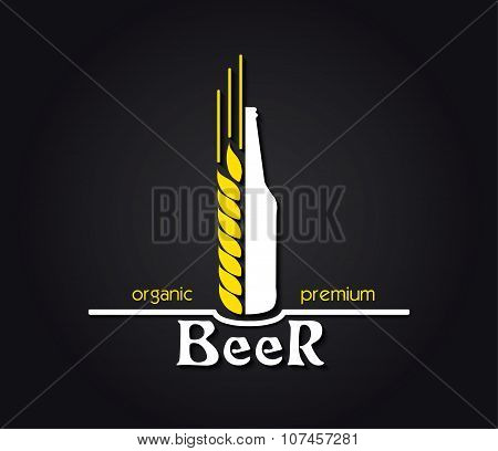 Creative Design  Organic Premium Beer Emblem. Vector Illustration
