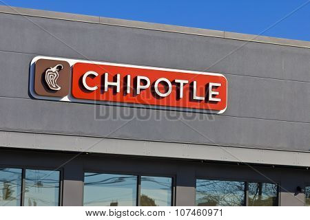 Lafayette, IN - November 2015: Chipotle Mexican Grill Restaurant.