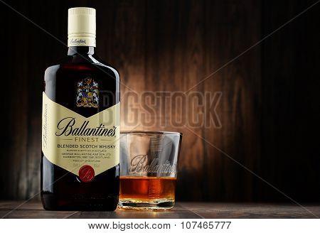 Bottle Of Ballantine's Scotch Whisky