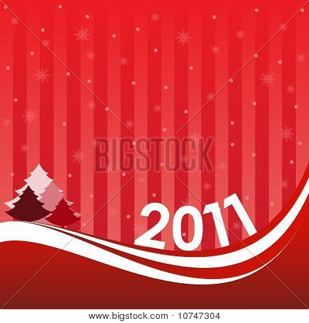 New Year greeting inscription card