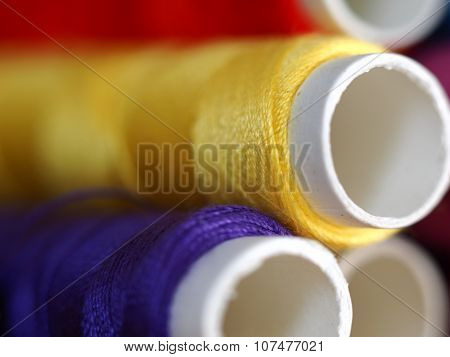 Yellow Cotton reel Closeup