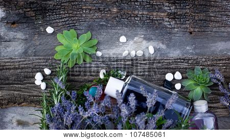 Spa treatment with lavender oil