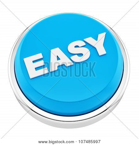 render of easy button, isolated on white