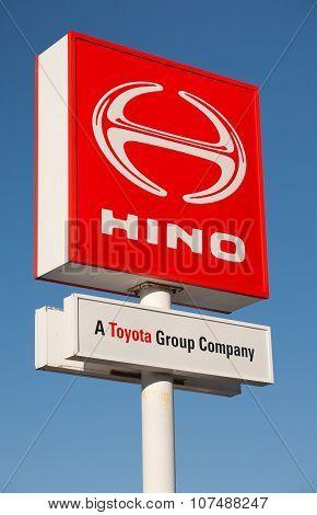 Hino Motors Sign