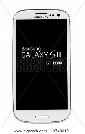 Varna, Bulgaria - Juny 03, 2012: Cell Phone Model Samsung S3 Has Super Amoled Capacitive Touchscreen