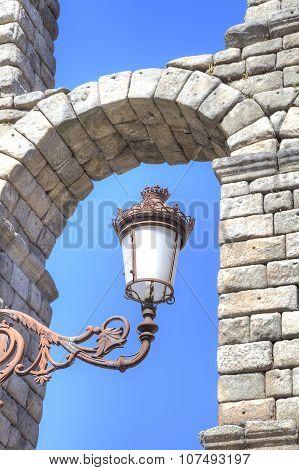 Segovia, Cityscape. Lantern On A Wall