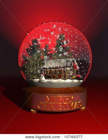snow globe nwinter cabin