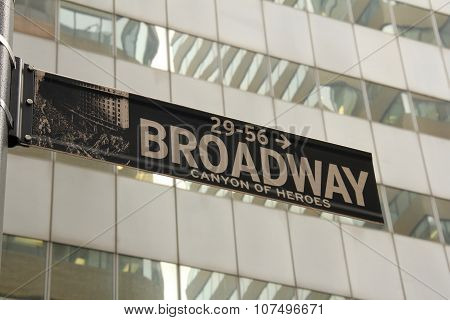 Broadway in New York City