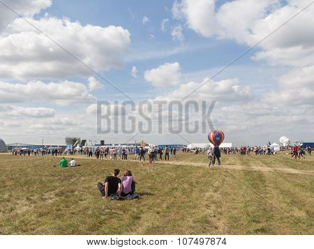 People At An Airshow