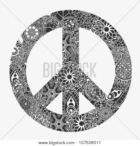 Peace symbol, round pacifism sign