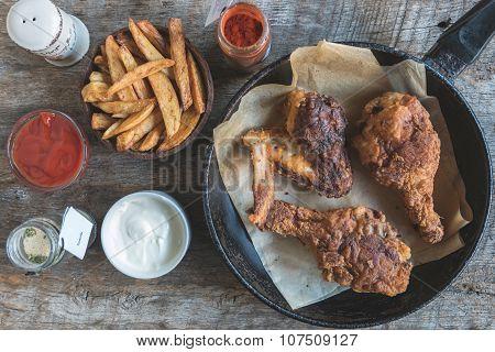 Fried Chicken In Buttermilk