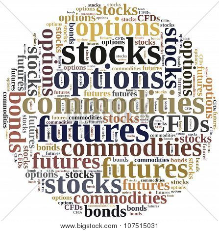 Financial Instruments Or Investing Concept.
