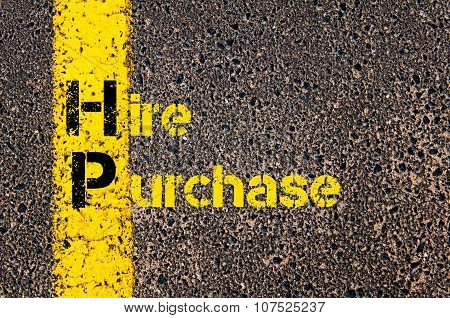 Business Acronym Hp As Hire Purchase