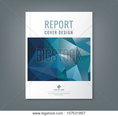 Abstract Low Polygonal Shape Background For Business Annual Report Book Cover Brochure Flyer Poster