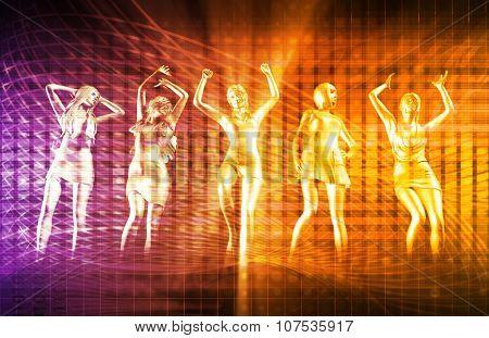 New Year Party Celebration with Women Celebrating