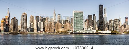 Skyline Of New York Seen From East River