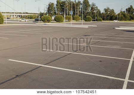 Empty parking lot area
