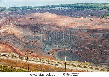 Iron Ore Mining. Zheleznogorsk. Russia