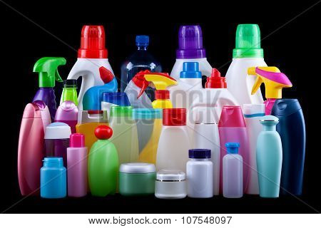 Usual Plastic Bottles From A Household