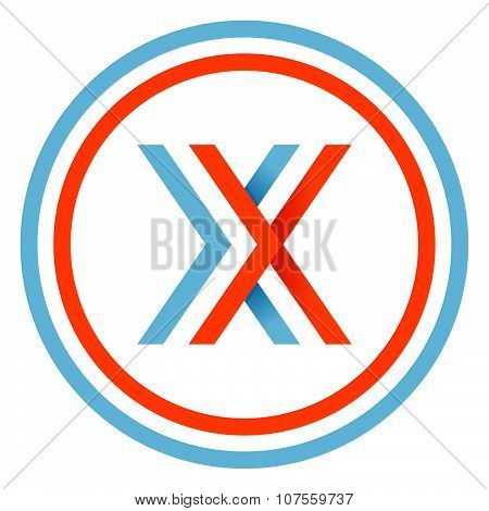 X Letter Design Template