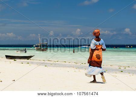 Ethnic Women On Sandy Beach, Africa