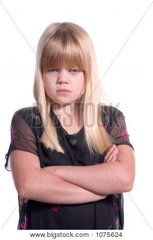 Disappointed Young Girl