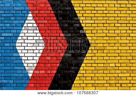 Flag Of Engels Painted On Brick Wall