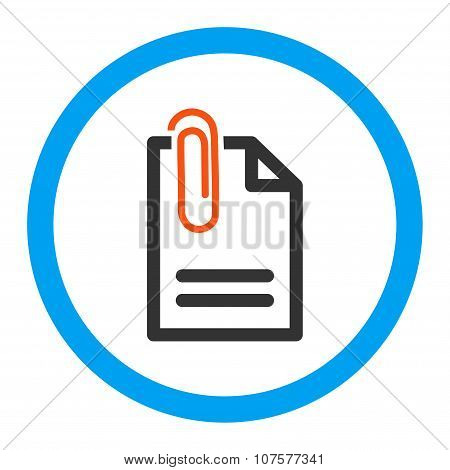 Attach Document Rounded Vector Icon
