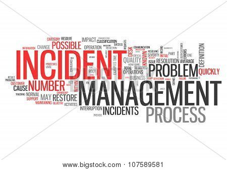 Wordcloud Incident Management