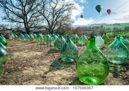 Demijohns And Hot-air Balloons