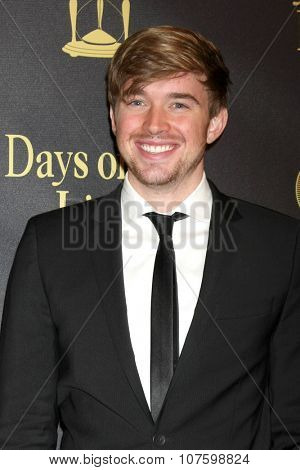 LOS ANGELES - NOV 7:  Chandler Massey at the Days of Our Lives 50th Anniversary Party at the Hollywood Palladium on November 7, 2015 in Los Angeles, CA