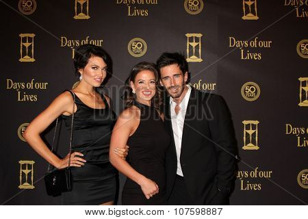 LOS ANGELES - NOV 7:  Guest, Mandy Beemer, Brandon Beemer at the Days of Our Lives 50th Anniversary Party at the Hollywood Palladium on November 7, 2015 in Los Angeles, CA