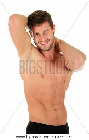 Young Atheletic Man, Muscles