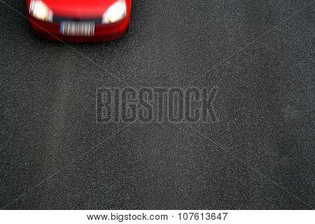 Background Of Black Tarmac Of Street