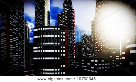 Concrete jungle - urban panorama