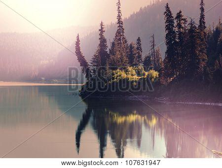 Serenity lake in Alaska poster