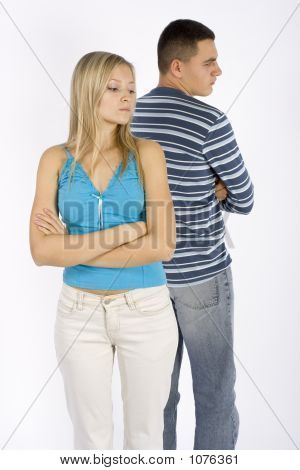 Offended Young Couple