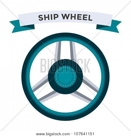 Vector rudder flat icons set. Rudder wheel illustration. Boat wheel control rudder vector icons set. Rudders, ships, se, wheel, round, control, yacht, cruise. Rudder icon. Wheel icons. Rudder and