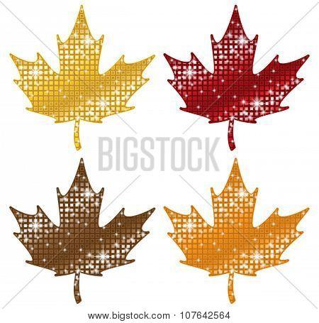Glittering Maple Leaves