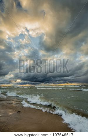 Storm Clouds Over Lake Huron