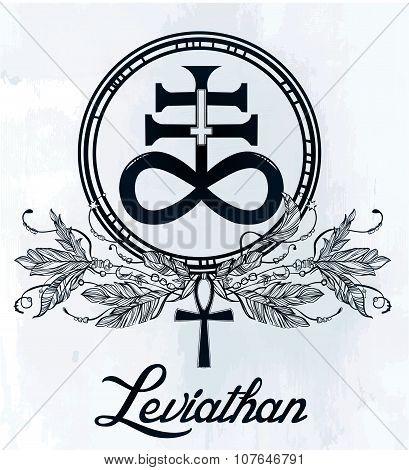 The Satanic Cross symbol illsutration.