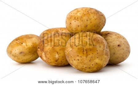 new potato tuber isolated on white background cutout poster