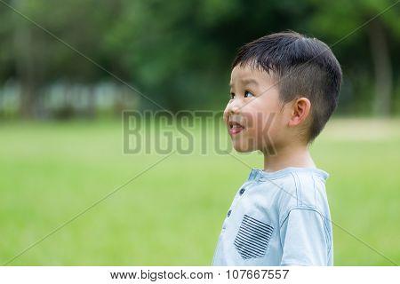 Cute little boy at oudoor