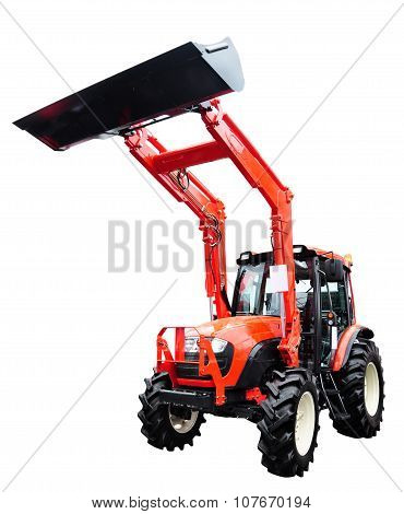 New Modern Tractor, Isolated On White With Clipping Path