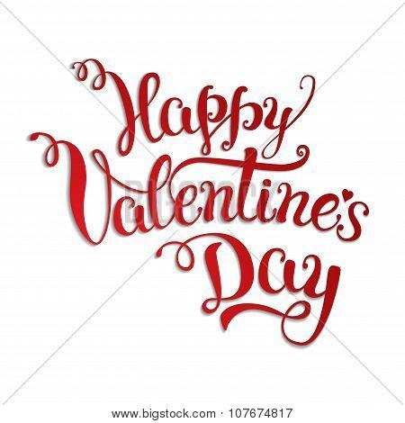 Original Hand Lettering Happy Valentine's Day